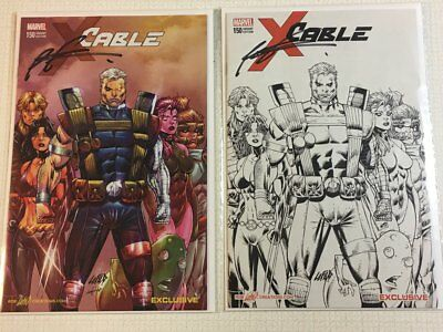 Cable #150 Rob Liefeld Sketch & Color Variants SIGNED NM/NM+ New Mutants X-FORCE