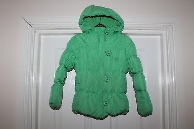NEXT Green Padded Girls Warm WINTER Coat,Jacket,Age 5-6 Years,Hood Hooded Puffa