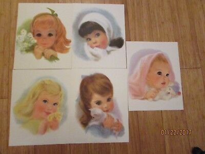 5 Northern Quilted Girls Prints Pictures Children Baby Vintage Toilet Paper