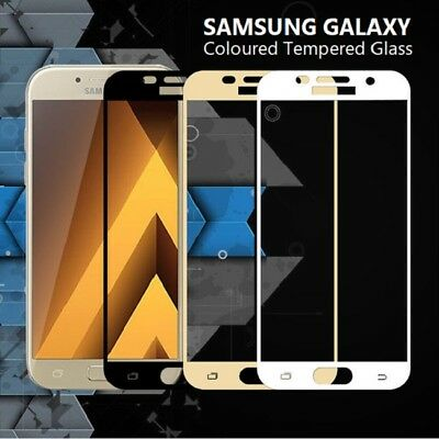FULL COVER Tempered Glass Screen Protector for Samsung Galaxy A3 A5 J3 J5 S7 S6