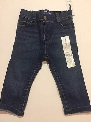 Old Navy 12-18 Month Baby Girls Skinny Jeans Denim NWT