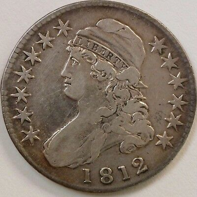 1812 Lettered Edge Capped Bust Half Dollar - Very Fine