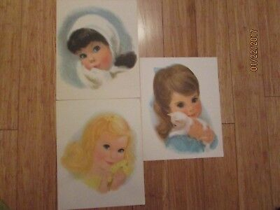 3 Northern Quilted Girls Prints Pictures Children Baby Vintage Toilet Paper