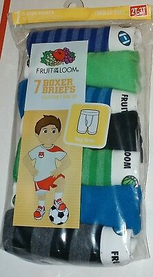 7 Pack Toddler Boys Boxer Briefs 2T-3T New Fruit Of The Loom Boxers