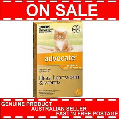 Advocate for Kittens and Small Cats Up to 4 kg 1 Pack (Single) * GENUINE 1pk *