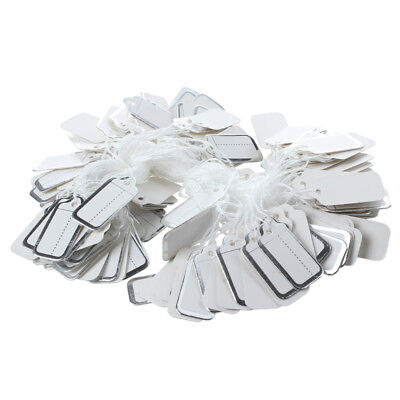 200 X 26X13Mm Paper Price Tags With Silver Edge E7B8