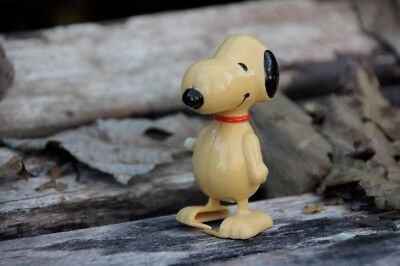 1958 Japan Wind Up Toy Walking Snoopy Peanuts Collectible
