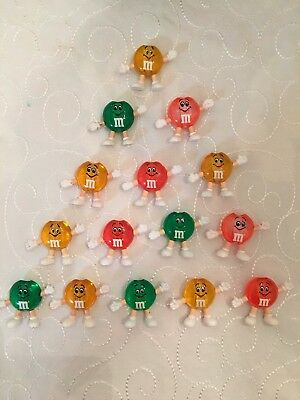 M&M's Happy Lights Christmas Patio Figural Light Covers Set of 15 asst no cord