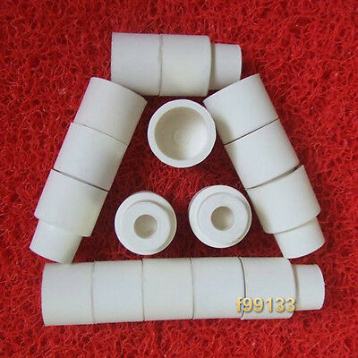 100pcs Sleeve Type White Rubber Stoppers for 24/40 Glassware