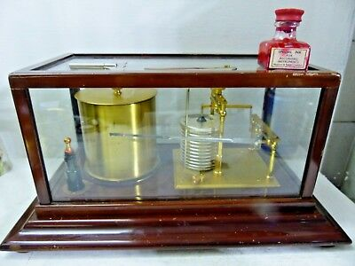 Good Quality Old Short & Mason Barograph In Wooden Case - L@@k