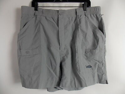 Bluewater Aftco Shorts Mens Swim Trunks Board Fishing Gray Size 42