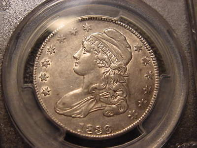 1836 Pcgs Cert Au 50 Capped Bust Half Dollar  Rated R-4