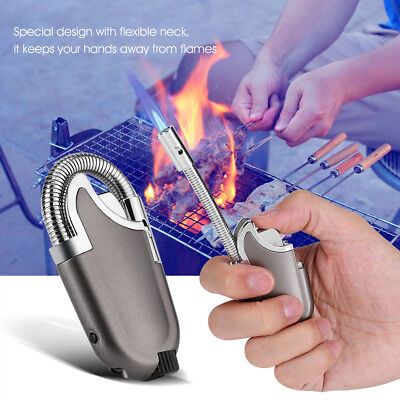 Flexible Refillable Butane Flame Lighter Ignition Tool for Kitchen BBQ Camping