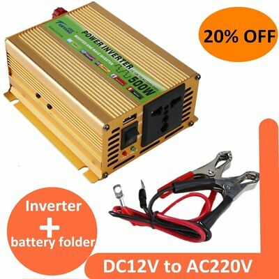 500W/1000W pure sine wave converter power inverter DC 12V to AC 220V Inverter UL