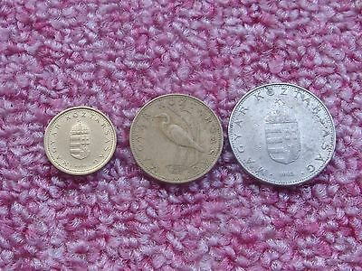Lot of Hungary coins, 1,5,10 Forint various years.Coat of Arms.