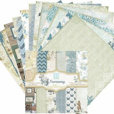 "24pcs 6"" Vintage Scrapbook Art Card Photo Album Designer Craft Making Paper Pad"