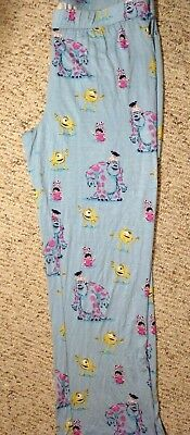 Disney Pixar Monsters Inc Nite Munki Pajama lounge Pj Pants Sully Mike Womens XL