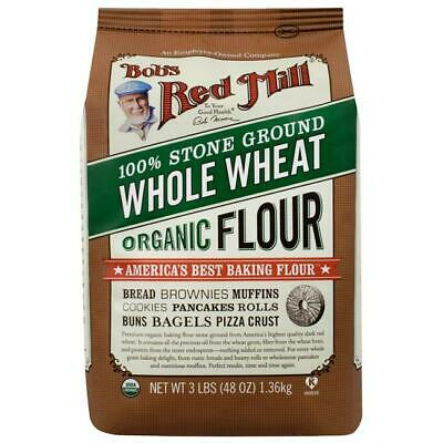 Bob's Red Mill Organic Whole Wheat Flour 48 oz Pkg