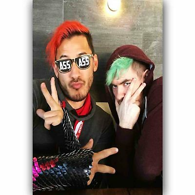 New Jacksepticeye and Marklipier Silk Poster Custom Wall Decor