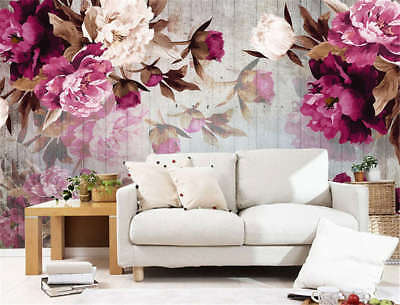Rosy Sober Flowers 3D Full Wall Mural Photo Wallpaper Printing Home Kids Decor