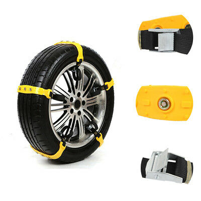 10x Wheel Tyre Anti-skid TPU Winter Roadway Ice Road Safety Car Tire Snow Chains