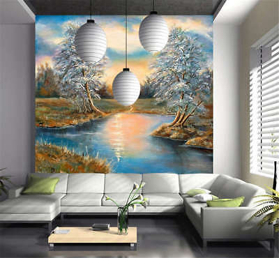 Utmost Sober Lake 3D Full Wall Mural Photo Wallpaper Printing Home Kids Decor