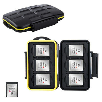 JJC Water-resistant Holder Storage Memory Card Case Protector For 6 XQD Cards
