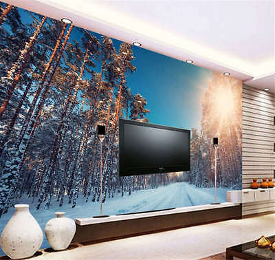 Erect Utmost Woods 3D Full Wall Mural Photo Wallpaper Printing Home Kids Decor