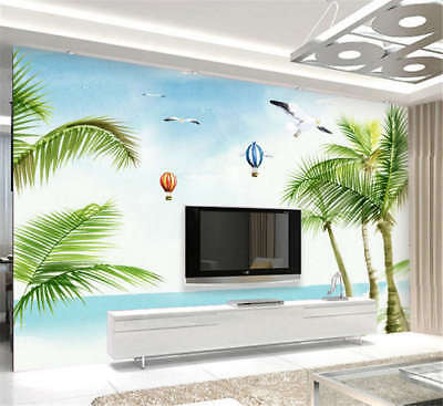 Tall Coherent Trees 3D Full Wall Mural Photo Wallpaper Printing Home Kids Decor
