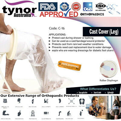 Tynor®Waterproof Seal Adult Leg Cast Bandage Wound Bath Protector Cover Reusable