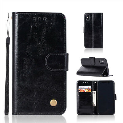 New Wallet Flip PU Leather Phone Case Cover For iPhone 7/8/X Samsung  S7 EDGE RA