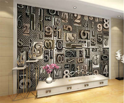 Retro Concise Stuff 3D Full Wall Mural Photo Wallpaper Printing Home Kids Decor