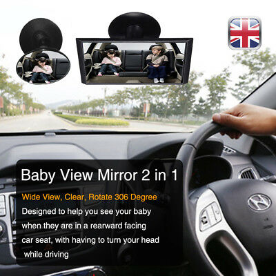 Car Interior Rear View Safety Mirror forward Facing Kids Baby Seat Child Car UK