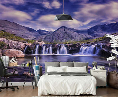 Purple Hot Spring 3D Full Wall Mural Photo Wallpaper Printing Home Kids Decor