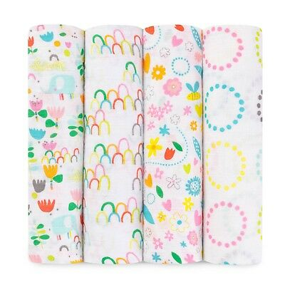 aden and anais zutano fairground 4-pack muslin swaddles