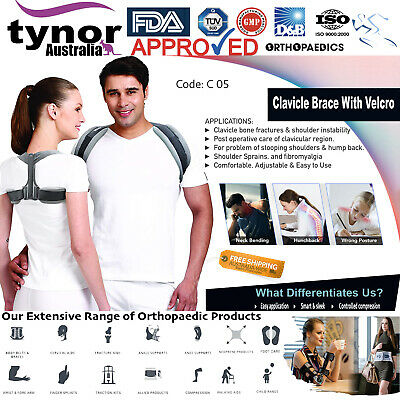 Tynor® Unisex Clavicle Brace Posture Corrector Back Support Figure 8 Adjustable