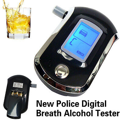 LCD Digital Police Alcohol Breath Tester Analyzer Breathalyzer Breathalyser UK