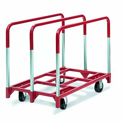 """Raymond 3860 Steel Panel Mover with 3 Standard Upright and 6"""" x 2"""" Phenolic 2400"""