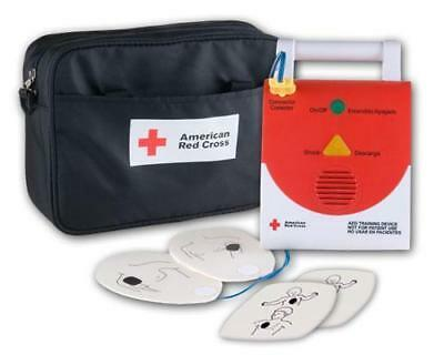 American Red Cross AED Trainer with bag and adult pads only