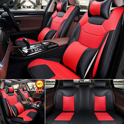 EGD 5-Seats Car SUV Seat Cover Full Set Front +Rear Top Microfiber Leather 7pcs