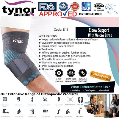 Tynor® Tennis Elbow Support Brace Sleeve Arm Tendonitis Guard Golfer's Sprains