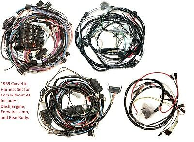 1969 Corvette Wire Harness Set for Vettes without AC