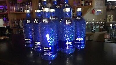 Absolut Vodka Sequin Blue Skin , neck tag ,Limited Edition 750 ML size