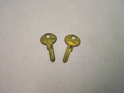 (2) Vintage Cole National Brass Key Blank M2 Master Locks