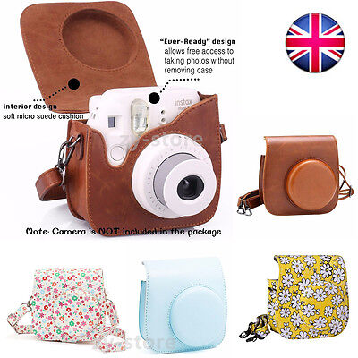 For Fujifilm Fuji Instax Mini 8 9 Instant Camera PU Leather Bag Carry Cover Case