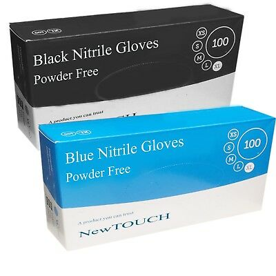 Disposable Strong Black Nitrile Blue Nitrile Gloves Latex Free Small Medium Larg