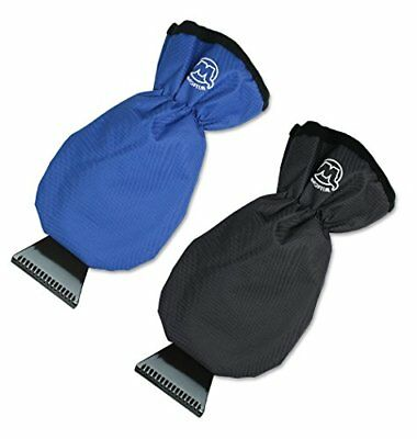 Ice Snow Scraper Gloves for Car Windshield Window Hand Mitts Scraping with 2pack