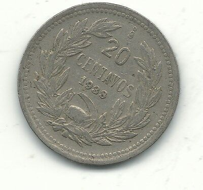 A Very Fine 1938 So Chile 20 Centavos Coin-Defiant Condor On Rock-Dec522