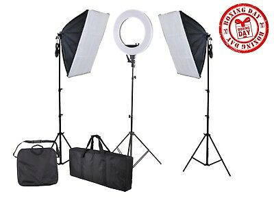 """""""Boxing Week Special"""" 18in Diva Ring Light + Softbox Lighting Kit Combo"""