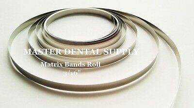 """Dental Matrix Band Roll 3/16"""" 10 Feet Stainless Steel Tofflemire Composite Resin"""